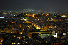 Night view of Athens Stock Photos