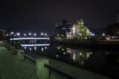 Night view Atomic Bomb Dome Stock Photography