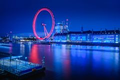 River Thames and London Eye Stock Photography