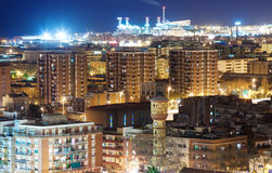 Night view of Badalona Royalty Free Stock Photo