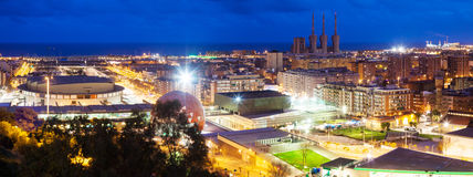 Night view of   Badalona. Barcelona Stock Photos