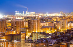 Night view of Badalona Royalty Free Stock Images