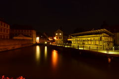 Night view in Bamberg, Germany Stock Photography