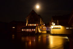 Night view in Bamberg, Germany Royalty Free Stock Photos