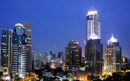 Night view of Bangkok Royalty Free Stock Photography