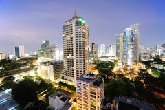 Night view in Bangkok Stock Photography