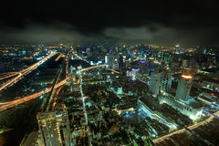 Night view of Bangkok Royalty Free Stock Photos