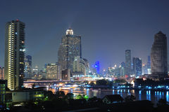 Night view of Bangkok Stock Image