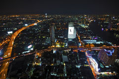 Night view of Bangkok from Sky Bar of State Tower Stock Photo