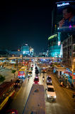 Night view of Bangkok streets Royalty Free Stock Photo