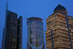 Night view of Bank of China in Shanghai Stock Images