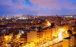 Night view of  Barcelona. Catalonia Stock Photos