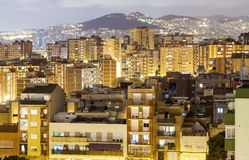 Night view of Barcelona Royalty Free Stock Photos