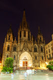 Night view of Barcelona Cathedral Royalty Free Stock Photos