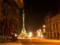 Night view at Barcelona Royalty Free Stock Photography