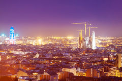 Night view of Barcelona Stock Photo