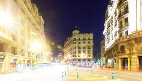 Night view of Barcelona Stock Image
