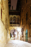 Night view of  Barrio Gotico Royalty Free Stock Photography