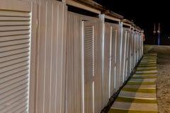 Night view of a bathouse Stock Photos