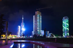 Night view of Batumi Stock Photography