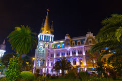 Night view of Batumi stock images