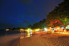Night view of beach royalty free stock image
