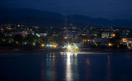 Night view of beach. Royalty Free Stock Image