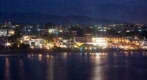 Night view of beach. Stock Photos