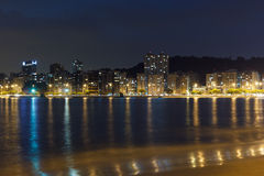 Night view Beach Icarai Niteroi Royalty Free Stock Photos