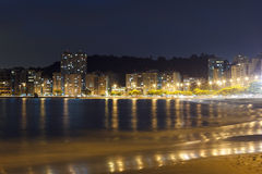 Night view Beach Icarai sea Niteroi Stock Photography