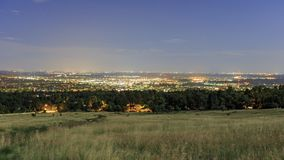 Night view of the beautiful Boulder city. Colorado Stock Images