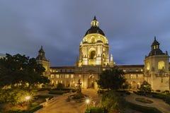 Night view of The beautiful Pasadena City Hall at Los Angeles, C Stock Image