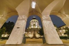 Night view of The beautiful Pasadena City Hall at Los Angeles, C Royalty Free Stock Photography