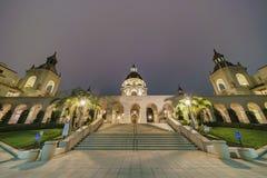 Night view of The beautiful Pasadena City Hall at Los Angeles, C Stock Photos
