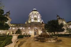 Night view of The beautiful Pasadena City Hall at Los Angeles, C Royalty Free Stock Photo