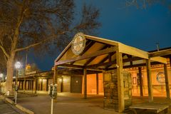 Night view of the beautiful reserve train station Stock Photography