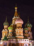 Night view of Beautiful St. Basil Cathedral Stock Image