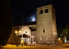 San Giusto Cathedral in Trieste at Night Royalty Free Stock Images