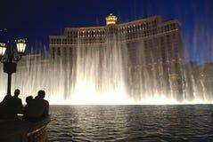Night View of Bellagio Hotel and Casino, Las Vegas, USA Royalty Free Stock Photos