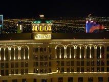 Night View of Bellagio Hotel and Casino, Las Vegas, USA Royalty Free Stock Photography