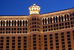 Night View of Bellagio Hotel and Casino, Las Vegas, USA Stock Images