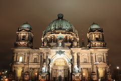 Night view of Berlin Cathedral Stock Image