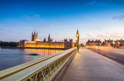 Night view of Big Ben and Houses of Parliament - London Stock Photography