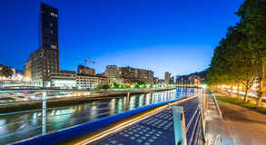 Night view of Bilbao Royalty Free Stock Photo