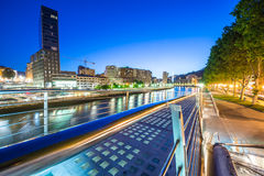 Night view of Bilbao Royalty Free Stock Image
