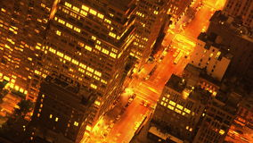 Night view stock footage