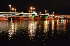 Night view of Blagoveshchensky bridge Royalty Free Stock Image