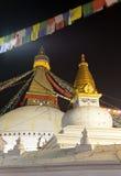 Night view of Bodhnath stupa - Kathmandu - Nepal. Night beautiful view of Bodhnath stupa - Kathmandu - Nepal Stock Photography