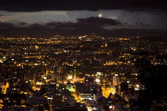 Night view of Bogota. Royalty Free Stock Photography