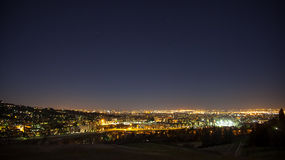 Night view from Bologna. Night view from the hills of Bologna Stock Image